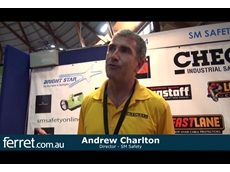 Sydney Safety Show 2012: Lightweight wheel chocks, cordless LED caplamps and polyurethane cable protectors from SM Safety [VIDEO]