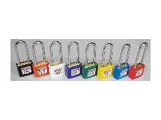 Coloured safety lockout padlocks
