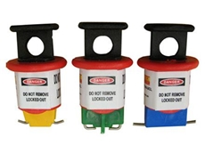 Cirlock's miniature circuit breaker lockout devices are manufactured from nylon material, and require no tools to use