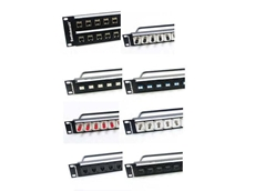 Switchcraft RJ45 and fibre optic patch panels