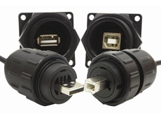 Conxall Data-Con-X sealed USB A-B and B-A connectors