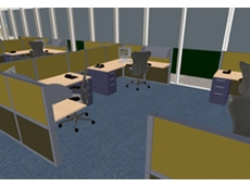 3D model for office interior design