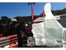 Coates Hire's ice sculpture at Surat Basin Energy & Mining Expo 2012
