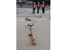 Two Enerpac RC50 hydraulic cylinders were used to load test anchor bolts of lighting poles
