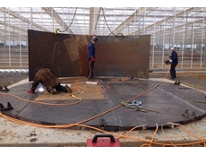 Coates Hire supplied suitable welding machines to build a hot water storage tank for a greenhouse