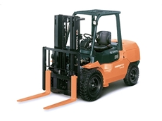 Coates provides all terrain forklift hire services