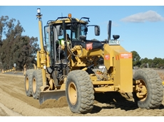 The Coates Hire 3D machine control equipped grader