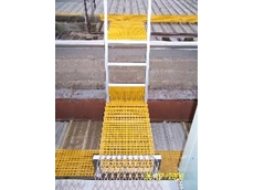 FRP safety roof walkways available from Grating Company