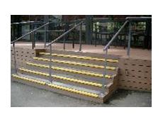 Fiberglass – Non Slip Overlay Stairs
