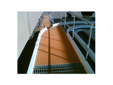 FRP Roof Walkways are a lightweight alternative to steel and will not rust, rot, warp or conduct electricity