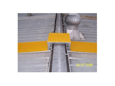 High visibility design eliminates trip and slip hazards making roof access much safer