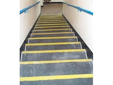 FRP stairs with quartz grit to prevent slips, trips and fall