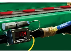 EXAIR's digital flowmeter comes pre-installed with new USB data logger