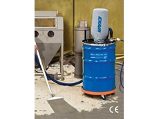 EXAIR's heavy duty dry vac attaches to a 205L open-top drum