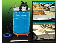 Chip trapper from Compressed Air Australia vacuums contaminated liquid, pumps out clean liquid
