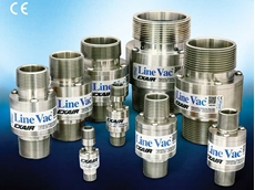 EXAIR's 316 stainless steel threaded line vacs