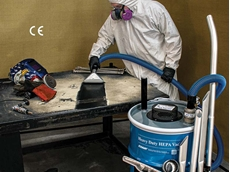 EXAIR's 30-gallon HEPA quality industrial vacuum cleaner