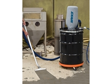 Heavy duty dry vac from Compressed Air Australia vacuums abrasive materials quickly