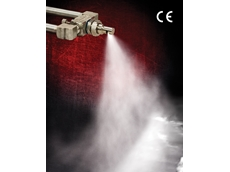 Spray nozzle coats, cools, treats and paints in tight spaces