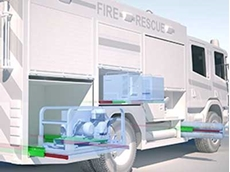Rollon linear rails and slides find use in special vehicles such as fire trucks