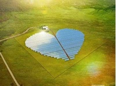 The unique design of the solar power plant was inspired by a heart-shaped area of wild mangrove vegetation in the vicinity