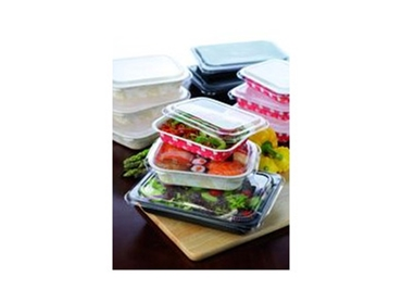 Food trays made from recycled materials