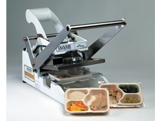 Oliver 1308 heat sealers are manually operated, sealing up to six packages per minute