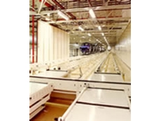 Floor skid conveyor systems have a roller bed framework with a range of features