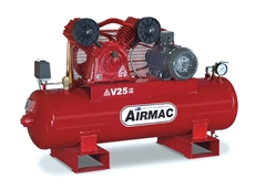 The Airmac V25 415V Belt Driven Reciprocating Air Compressor