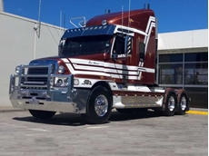 Riseley's Bulk Haulage Freightliner with Series 60 Detroit at 1.5 million km