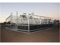 Custom built steel horse stable