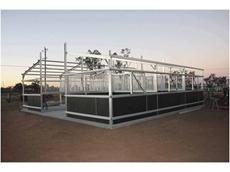 Custom built steel horse stable