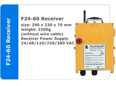 F24-60 Double Joystick  Receiver and Transmitter available from Crane Automation & Industrial Supplies.