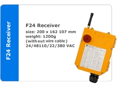 F24 Series of receivers and transmitters available from Crane Automation & Industrial Supplies Pty Ltd
