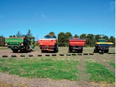 Spreaders used in Yorke Peninsula snail bait trial (GRDC picture)