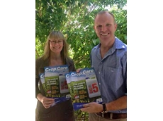 Tracey Bilek and Owen Williams from Crop Care show the BIG 5 catalogue that was well received by resellers and farmers alike