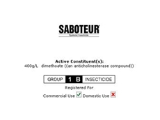 Saboteur Systemic Insecticide From Crop Care