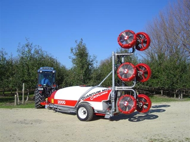 Sprayers feature twice the amount of nozzles compared to conventional model