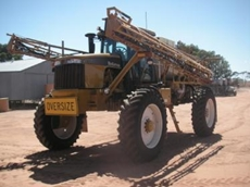 Self-propelled RoGator boom sprayer from Croplands Equipment