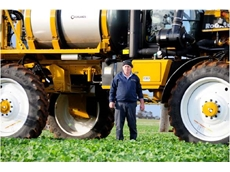 Haydn Bailey attributes his increase in productivity to his new 1386 Rogator self propelled crop sprayer