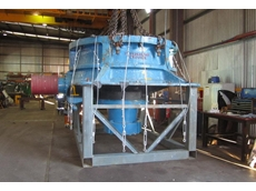 Crushing and Mining Equipment rebuilt this 72 inch Kone crusher over the course of three months