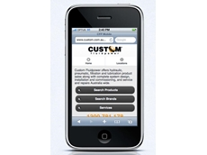 Custom Fluidpower's website re-launch includes a mobile version accessible on smartphones