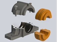 Split plummer block bearings