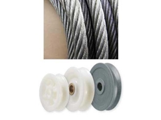 Sheaves made from Wearlon engineered plastics prevent wear on steel wire ropes thanks to their elasticity