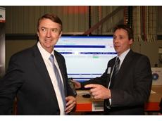 The Hon. Terry Mulder, M.P. with Steven Lehrer - Logistics Supervisor, Schenker