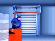 Efaflex high speed freezer door