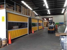 The 5m width of the roll door will allow movement of large products in and out of the printing area