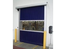 Flexible bottom rail for high speed roll doors