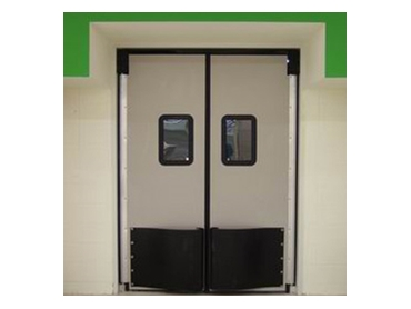High impact swing doors for increased insulation