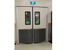DMF high impact traffic doors are designed to swing 180 degrees